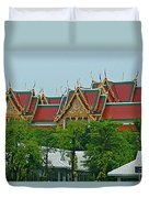 Grand Palace Of Thailand From Waterways Of Bangkok-thailand Duvet Cover