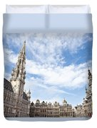 Grand Place In Brussels Belgium Duvet Cover