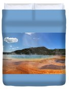 Grand Prismatic Hot Spring Pool At Yellowstone National Park Duvet Cover