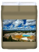 Grand Prismatic Pool Yellowstone National Park Duvet Cover