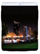 Grand Rapids Michigan At Dusk Duvet Cover