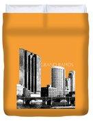 Grand Rapids Skyline - Orange Duvet Cover