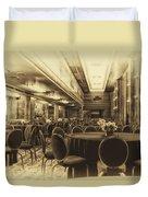 Grand Salon 05 Queen Mary Ocean Liner Heirloom Duvet Cover