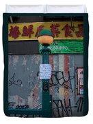 Grand Street Subway Station In Chinatown Manhattan Duvet Cover