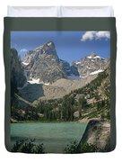 1m9387-v-grand Teton And Delta Lake - V Duvet Cover