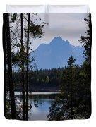 Grand Teton Framed By Cedars Duvet Cover