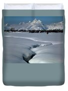 1m9304-grand Teton From Jackson Hole, Winter, H Duvet Cover