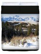 Grand Teton Landscape Duvet Cover