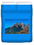 Grand Teton Mountain Duvet Cover