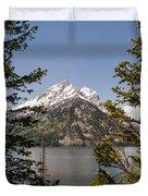 Grand Teton On Jenny Lake - Grand Teton National Park Wyoming Duvet Cover