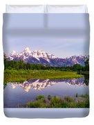 Grand Teton Reflection Duvet Cover
