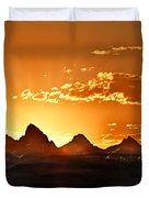 Grand Teton Sunrise Duvet Cover