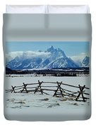 1m9306-grand Tetons From Ranch Country Duvet Cover