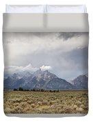 Grand Thunder - Grand Teton National Park - Wyoming Duvet Cover