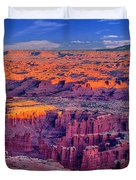Grand View Point Evening Panorama Duvet Cover