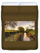 Grand Western Canal At Halberton  Duvet Cover