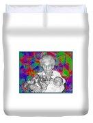 Grandma And Rose Duvet Cover