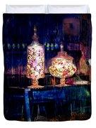 Grandma Daisy's Candy Store Duvet Cover by Gunter Nezhoda