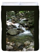 Granite Boulders In A River  Duvet Cover