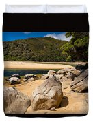 Granite Boulders In Abel Tasman Np New Zealand Duvet Cover