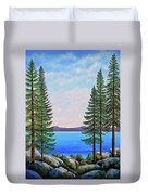Granite Boulders Lake Tahoe Duvet Cover