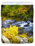Granite Rocks Above The Cascading Feather River, Quincy California Duvet Cover