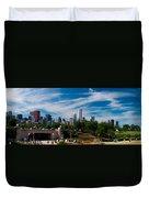 Grant Park Chicago Skyline Panoramic Duvet Cover