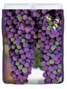 Grape Bunches Portrait Duvet Cover