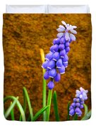 Grape Hyacinth And Sandstone  Duvet Cover