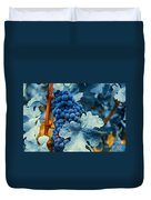 Grapes - Blue  Duvet Cover by Hannes Cmarits