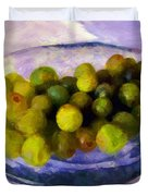 Grapes On The Half Shell Duvet Cover