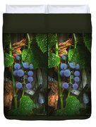 Grapes On The Vine - Gently Cross Your Eyes And Focus On The Middle Image Duvet Cover