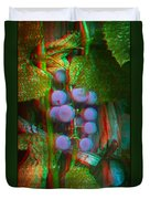 Grapes On The Vine - Use Red-cyan Filtered 3d Glasses Duvet Cover