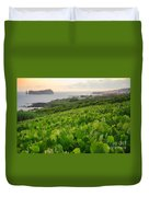 Grapevines And Islet Duvet Cover