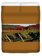 Grapevines In Vineyard, Traverse City Duvet Cover