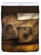 Graphic Artist - Ab Duvet Cover