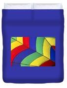 Graphic Hot Air Balloon Detail Duvet Cover