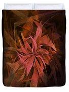 Grass Abstract - Fire Duvet Cover