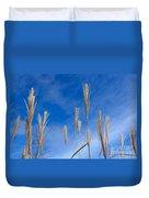 Grass Against A Blue Sky Duvet Cover