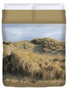 Grass And Sand Dunes Duvet Cover