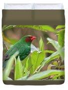 Grass-green Tanager Duvet Cover