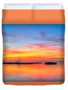 Grass Islands Of The Gulf Duvet Cover