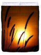 Grasses At Sunset - 1 Duvet Cover