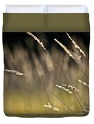 Grasses Blowing Duvet Cover