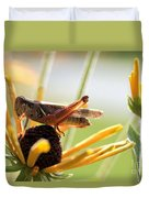 Grasshopper Antena Up Duvet Cover