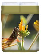 Grasshopper Delight Duvet Cover