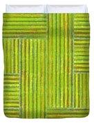 Grassy Green Stripes Duvet Cover