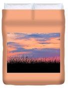 Grassy Sunset Duvet Cover