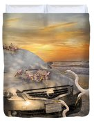 Grateful Friends Curious Egrets Duvet Cover