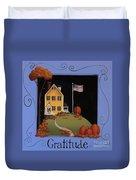 Gratitude Duvet Cover